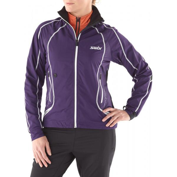 swix star xc jkt. women's purple