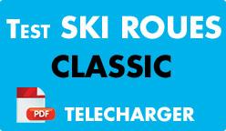 Test ski roues classic